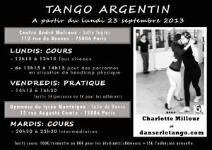 Cours Tango Paris 6