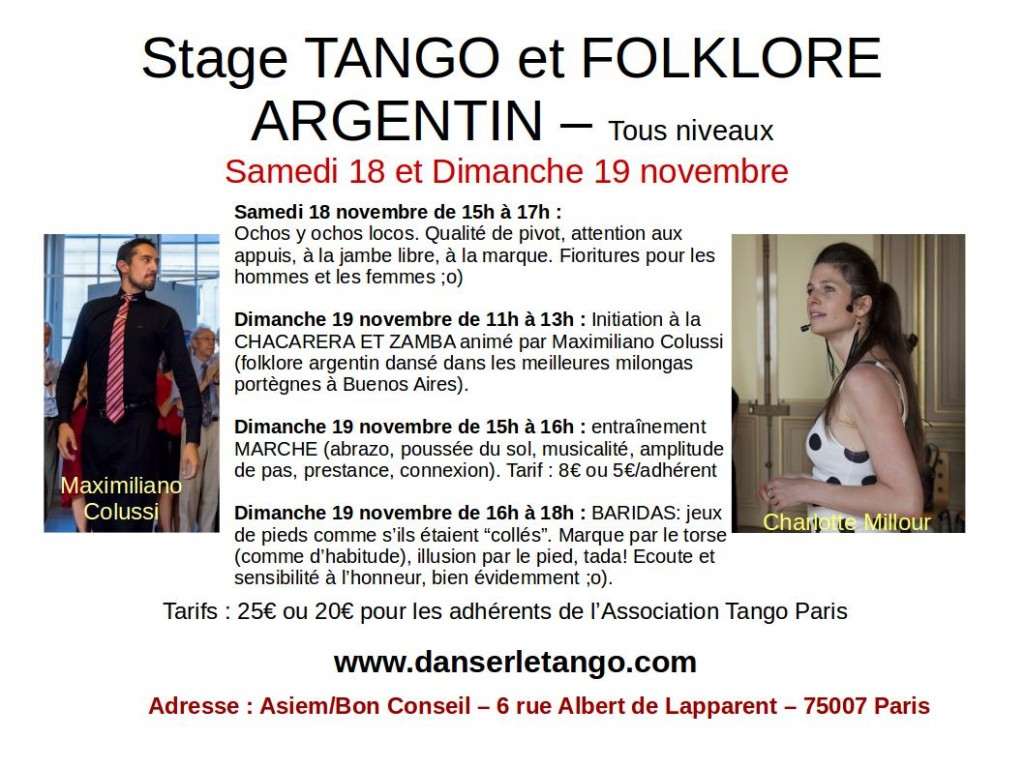 2017 Stages Tango