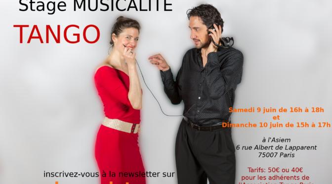 Stages Tango Argentin samedi 9 et dimanche 10 juin