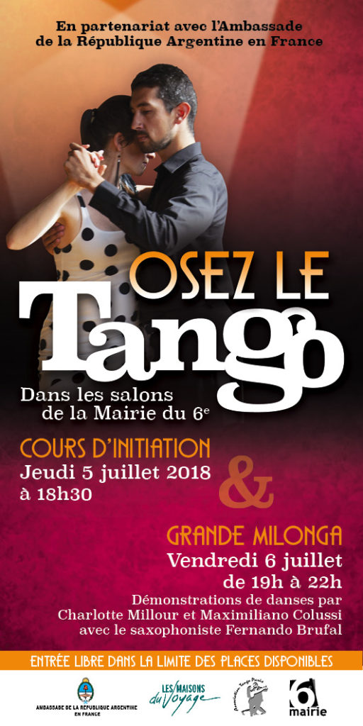 Grande milonga Mairie du 6ème Paris 2018