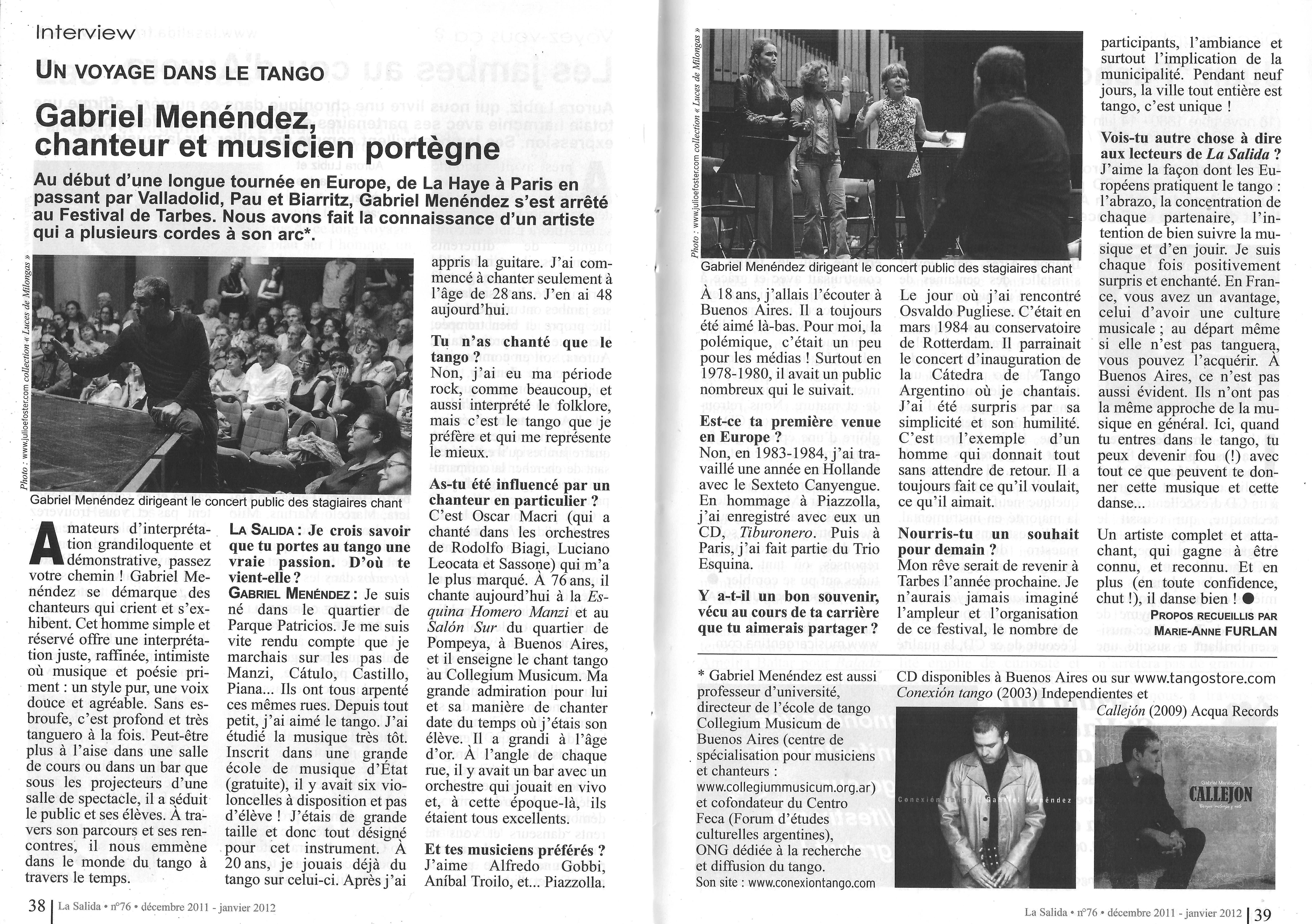 Interview pour La Salida