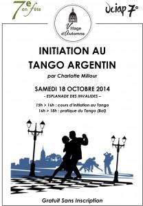 Tango Argentin - Samedi 18 Octobre