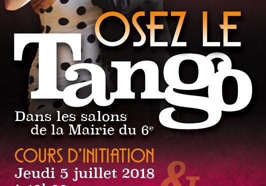5 et 6 juillet: Grande MILONGA à la Mairie du 6ème + Initiation au Tango
